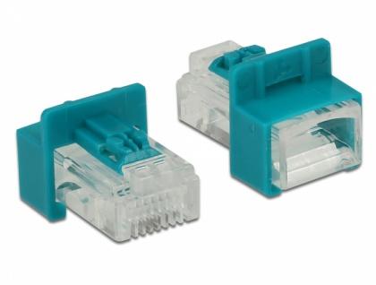 RJ45 Secure Clip mit Stecker, Set mit 6 Stück, Delock® [86425]