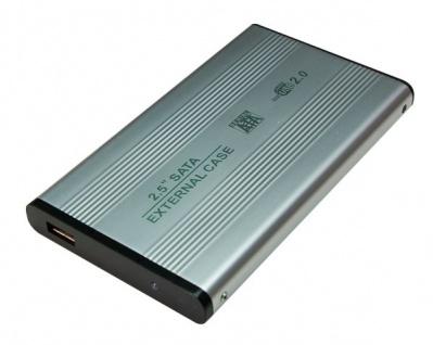 LogiLink® Festplattengehäuse 2, 5 Zoll S-ATA USB 2.0 Alu, silber [UA0041A]