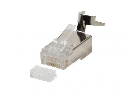 Modular Stecker Cat.6A RJ45 für Cat.7, Cat.6A und Cat.6 Kabel, 50 Stück, geschirmt, LogiLink® [MP0033]