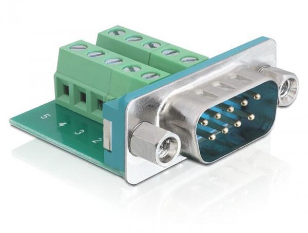 Adapter Sub-D 9 Pin Stecker an Terminalblock 10 Pin, Delock® [65269]