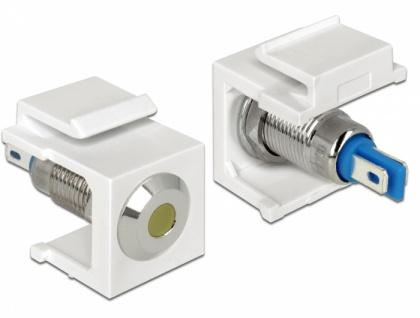 Keystone LED gelb 6 V flach, weiß, Delock® [86436]
