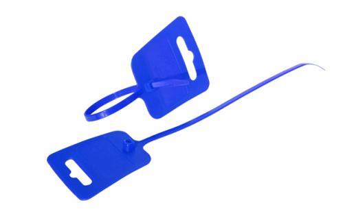 kabelmeister® Kabelbinder, Euroloch und Beschriftungsfeld, RAL 5005, VE 100 Stück, blau, 4, 8 x 250mm - Vorschau