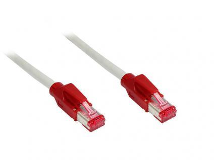 kabelmeister® Patchkabel, Cat. 6, S/FTP, PiMF, crossover, halogenfrei, 250MHz, 10m