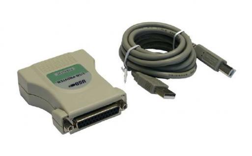 Anschlusskabel, USB 1.1 zu 1P Parallel 25 Pin, 1, 8m, Exsys® [EX-1345] - Vorschau