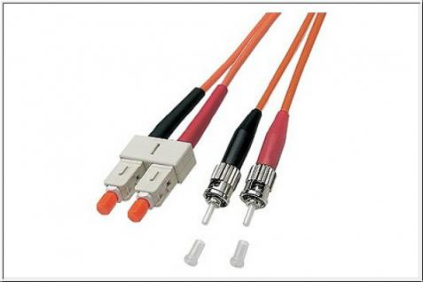 kabelmeister® Patchkabel LWL Duplex OM1 (Multimode, 62, 5/125) ST/SC, 10m