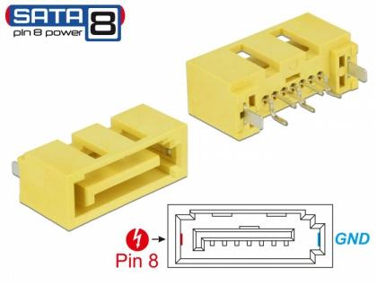 Steckverbinder SATA 6 Gb/s Stecker Pin 8 Power, Delock® [89886]