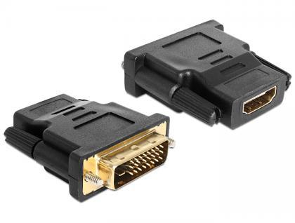 Adapter DVI 24+1 Pin Stecker an HDMI Buchse, Delock® [65466]