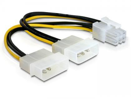 Stromkabel für PCI Express Karten 15cm, Delock® [82315]