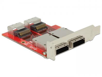 Adapter 2 x Mini SAS SFF-8087 Buchse an 2 x Mini SAS SFF-8088 Buchse Low Profile Form Faktor, Delock® [62658]