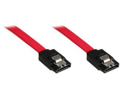 SATA 3 Gb/s Anschlusskabel, mit Arretierung, 0, 7m, Good Connections®