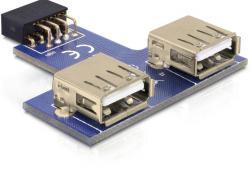 USB Pinheader Buchse an 2 x USB 2.0 Buchse - oben, Delock® [41824]