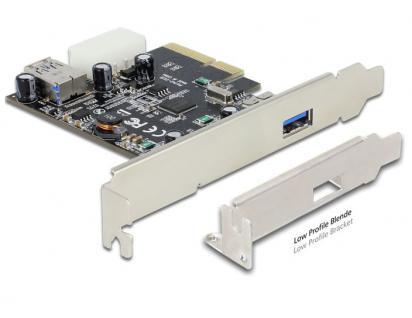 PCI Express x4 SuperSpeed USB 10 Gbps (USB 3.1 Gen 2) 1+1 Port inkl. LP ASmedia, Delock® [89399]