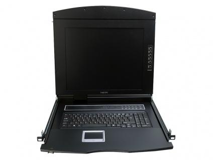 19' LCD KVM Konsole mit 17' TFT Monitor und Tastatur (DE), LogiLink® [LC702GE]