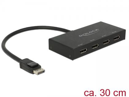 Displayport 1.2 Splitter 1x Displayport in an 4x Displayport out 4K, Delock® [87694]