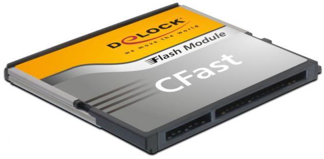 Speicherkarte CFast-Card SATA 6 Gb/s WT 128GB MLC -40____deg; C ~ +85____deg; C, Delock® [54703]