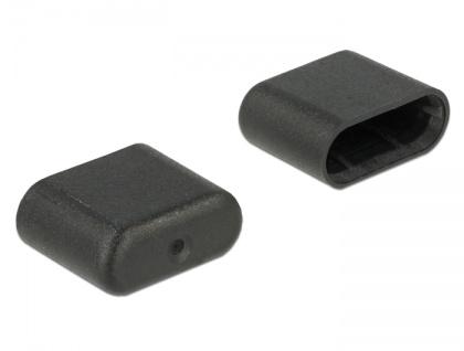 Staubschutz für USB Type-C Stecker 10 Stück, schwarz, Delock® [64008]