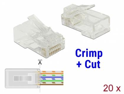 RJ45 Crimp+Cut Stecker Cat.6 UTP 20 Stück, Delock® [86453]