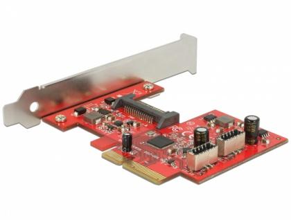 PCI Express Karte an 2x intern USB 3.1 Gen.2 Key A 20 Pin Buchse , Delock® [89906]
