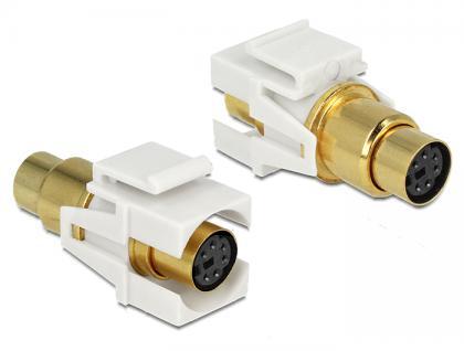 Keystone Modul Mini-DIN 6 Pin Buchse an Buchse vergoldet, Delock® [86339]
