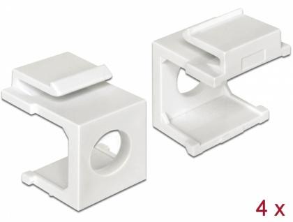 Keystone Abdeckung weiß mit 8 mm Durchführung 4 Stück, Delock® [86400]