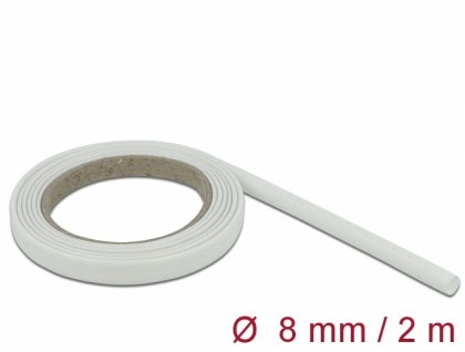 Schutzschlauch Glasfasergeflecht 2 m x 8 mm weiß, Delock® [18931]