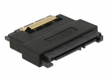 Adapter SATA 22 Pin Buchse zu Stecker mit Einrastfunktion - Portschoner, Delock® [63945]