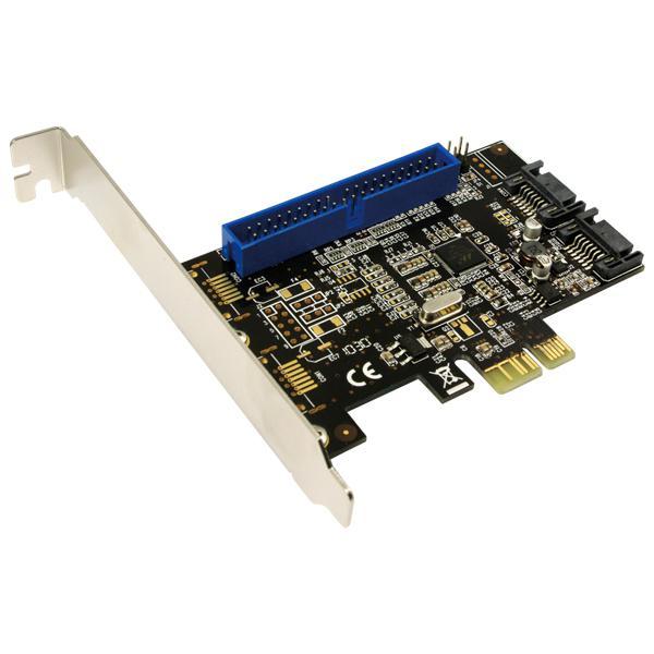 LogiLink® PCI Express Schnittstellenkarte SATA 6Gbps 2x SATA 1x ATA [PC0064]