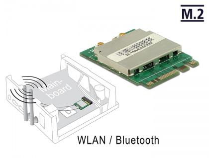 Modul M.2 Key A+E Stecker an WLAN 11ac/a/b/g/n + Bluetooth 4.0, Delock® [95254]