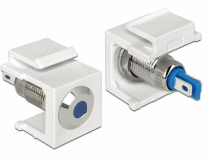 Keystone LED blau 6 V flach, weiß, Delock® [86434]