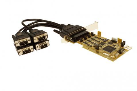 4S Seriell RS232/422/485 PCI Combo Karte inkl. Octopus Kabel und LP Bügel, Treiber für Linux und SCO-Unix (SystemBase), Exsys® [EX-42374]