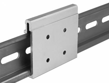 Aluminium Montageclip für Hutschiene, Delock® [65992]