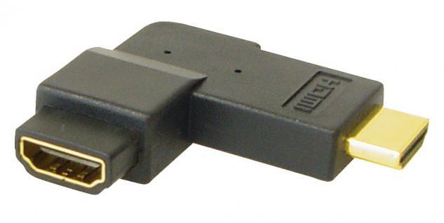 kabelmeister® HDMI Adapter Stecker auf Buchse, 270____deg; gewinkelt, vergoldete Kontakte