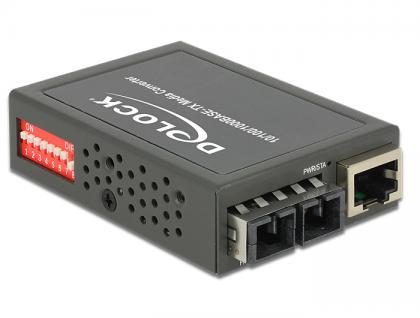 Medien Konverter 1000Base-SX SC MM 850 nm 550 m kompakt, Delock® [86442]