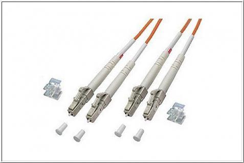 kabelmeister® Patchkabel LWL Duplex OM1 (Multimode, 62, 5/125) LC/LC, 15m