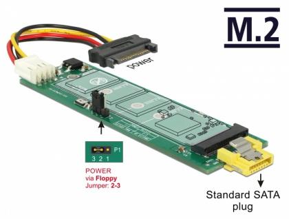 Konverter SATA Pin 8 Power Buchse > M.2 Key B Slot, Delock® [63917]