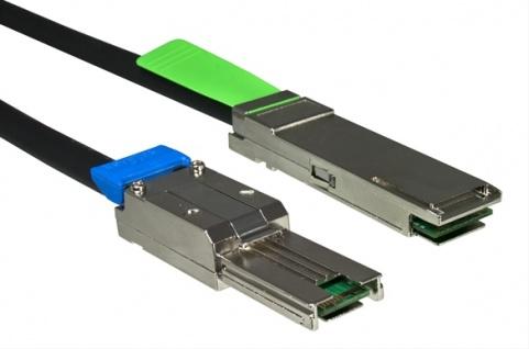 kabelmeister® Mini SAS, QSFP auf SFF-8088 , 1m
