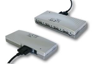 USB 2.0 HUB mit 4 Ausgängen zum Verschrauben, Exsys® [EX-1163V]