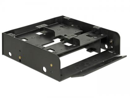 Einbaurahmen 5.25' für 1x 3.5' + 2x 2.5' Festplatten, Kunststoff, schwarz, Delock® [18000]