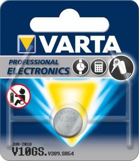 Varta® Knopfzelle (V10GS) Silberoxid-Zink, SR54, 1, 55V, 85mAh