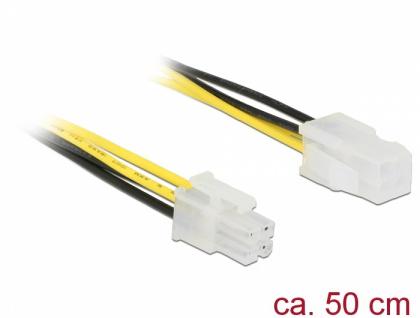 Verlängerungskabel P4 4 Pin Stecker an P4 4 Pin Buchse, 0, 5 m, Delock® [85458]