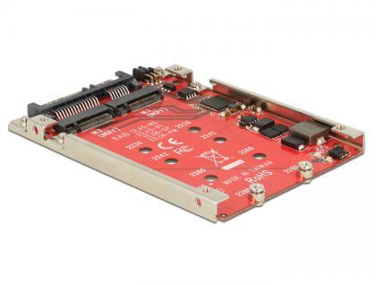 Konverter SATA 22 Pin an 2x M.2 NGFF 2.5' mit RAID 7mm, Delock® [62698]