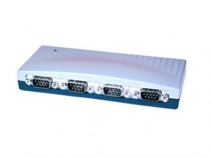USB 1.1 zu 4x Seriell RS-232 St. im Metallgehäuse, Exsys® [EX-1334HM]