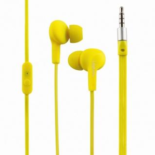 Wassergeschütztes (IPX6) Stereo In-Ear Headset, Gelb, LogiLink® [HS0043]