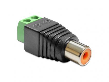 Adapter Cinchbuchse an Terminalblock 2 Pin, Delock® [65418]