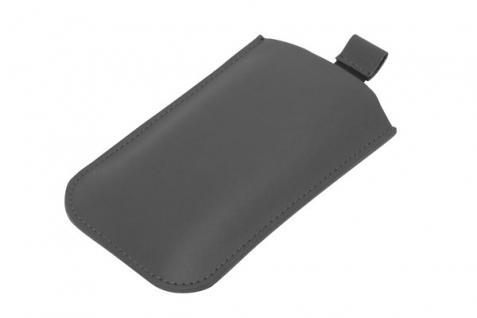 Handytasche für iPhone® 4, Lasche mit Rückzugfunktion, PU Leder, schwarz