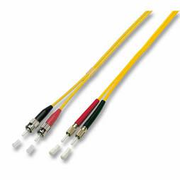 kabelmeister® Patchkabel LWL Duplex OS2 (Singlemode, 9/125) DIN/ST, gelb, 10m