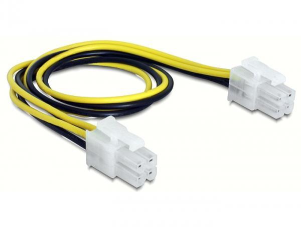 Kabel, Stromversorgung, 4pin Stecker auf 4pin Stecker, 0, 3m Delock® [65604]