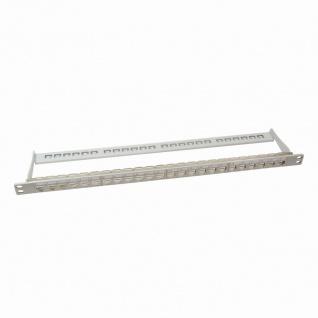 Keystone Modular Verteilerfeld 0.5HE für 24 Keystone Module NK4000, geschirmt, grau, leer, LogiLink® [NK4039]