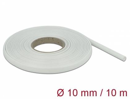 Schutzschlauch Glasfasergeflecht 10 m x 10 mm weiß, Delock® [18936]