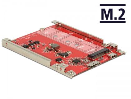 2, 5' Konverter USB 3.1 Micro-B Buchse an M.2 Key B - 7 mm Höhe, Delock® [62699]